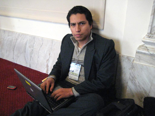 Luis Mostacero at work at the 2009 Inauguration