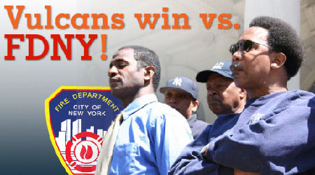 Official organization of NYFD's African-American Firefighters - Picture Courtesy of Center for Constitutional Rights